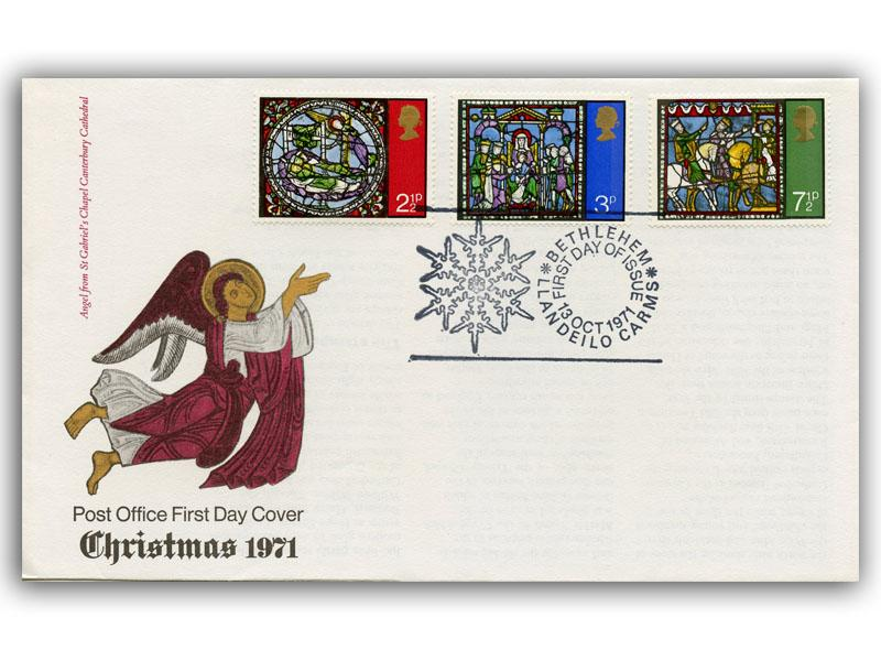 1971 Christmas Cover with a Bethlehem Special Postmark