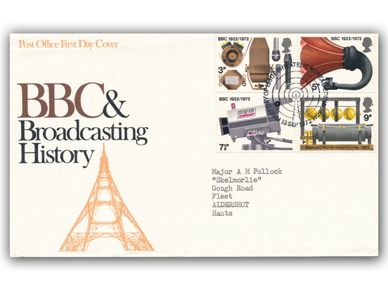 1972 BBC First Day Covers