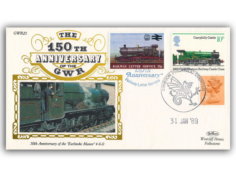 1989 150th Anniversary of the Great Western Railway - Earlstoke Manor