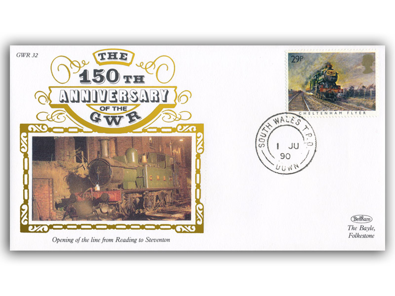 1990 150th Anniversary of the Great Western Railway - Reading to Steventon