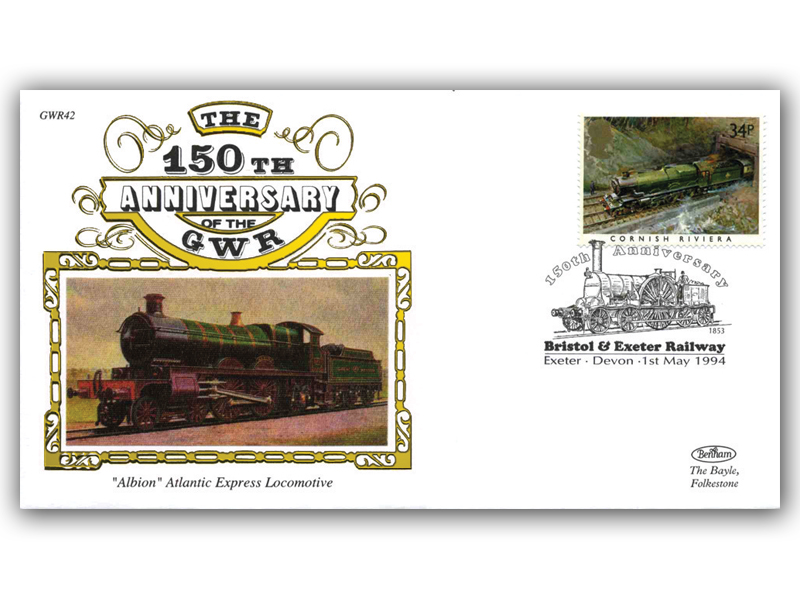 1994 150th Anniversary of the Great Western Railway - Bristol and Exeter