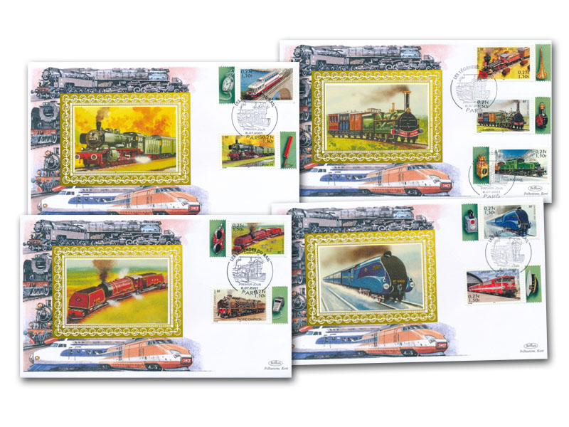 6th July 2001 - French Legends of Rail Set of 4 Covers