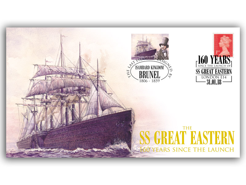 160 Years Since the Launch of the SS Great Eastern Railway Cover