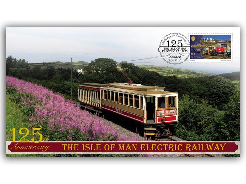 125 Years of the Isle of Man Electric Railway Service Single Stamp Cover
