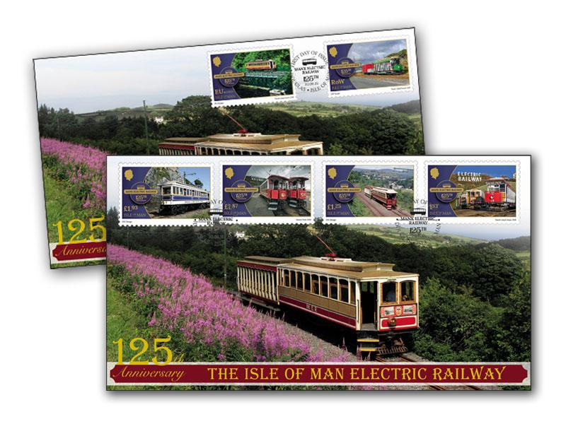 125 Years of the Isle of Man Electric Railway Pair of Covers