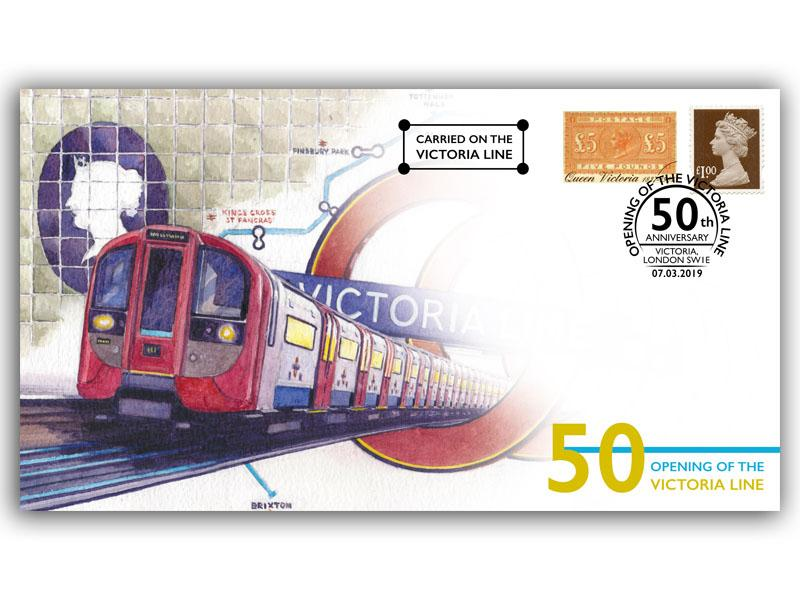 50 Years Since The London Underground's Victoria Line Opened First Day Covers