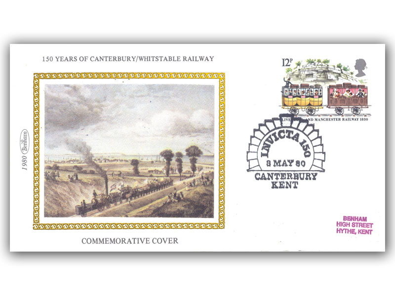 3rd May 1980 Invicta 150 with a Canterbury Special Postmark