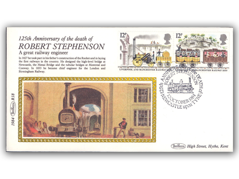 10th October 1984 - 125th Anniversary of the Death of Robert Stephenson
