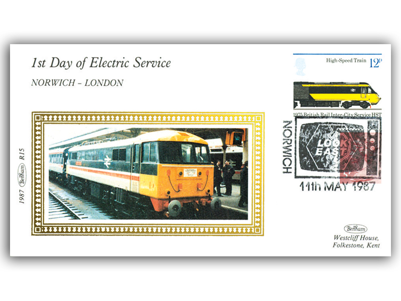 11th May 1987 - 1st Day of the Electric Service Between Norwich and London