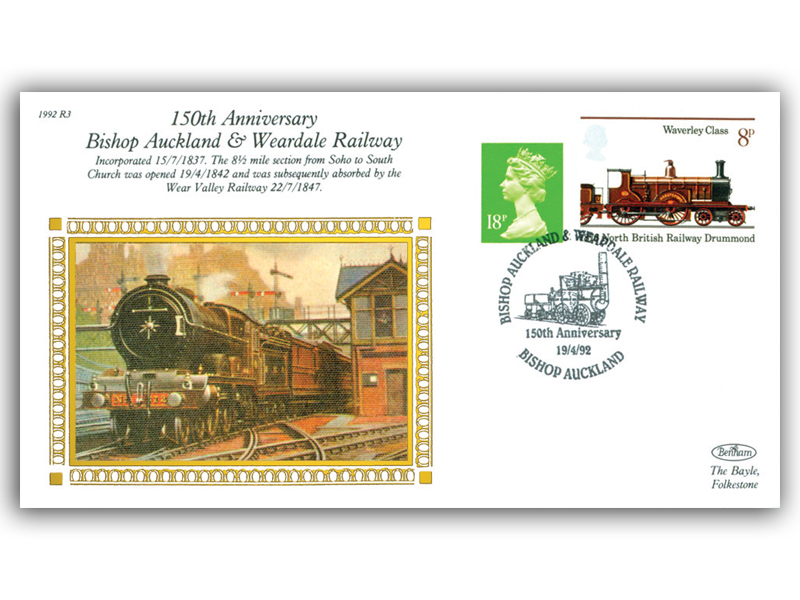 19th April 1992 - 150th Anniversary of Bishop Auckland & Weardale Railway