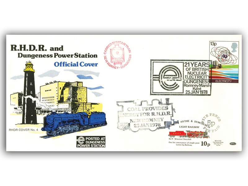 1978 RHDR Energy single stamp carried cover