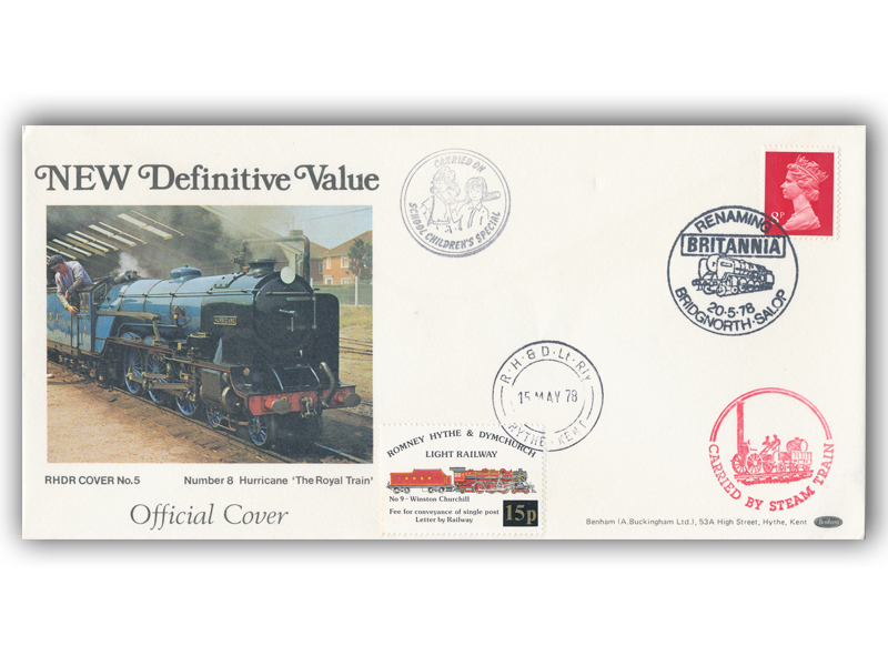 1978 RHDR 15p Railway Letter single stamp cover