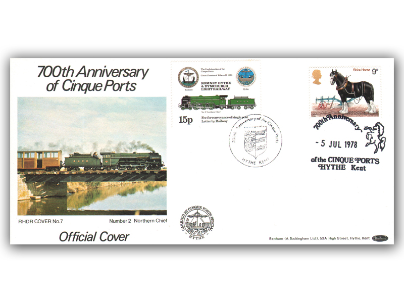 1978 RHDR Horses single stamp carried cover