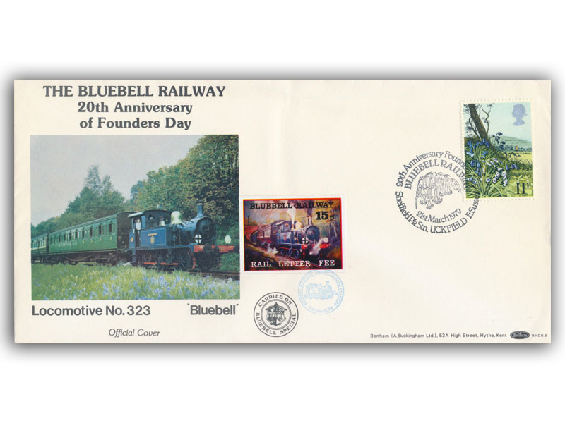 1979 RHDR Flowers single stamp carried cover
