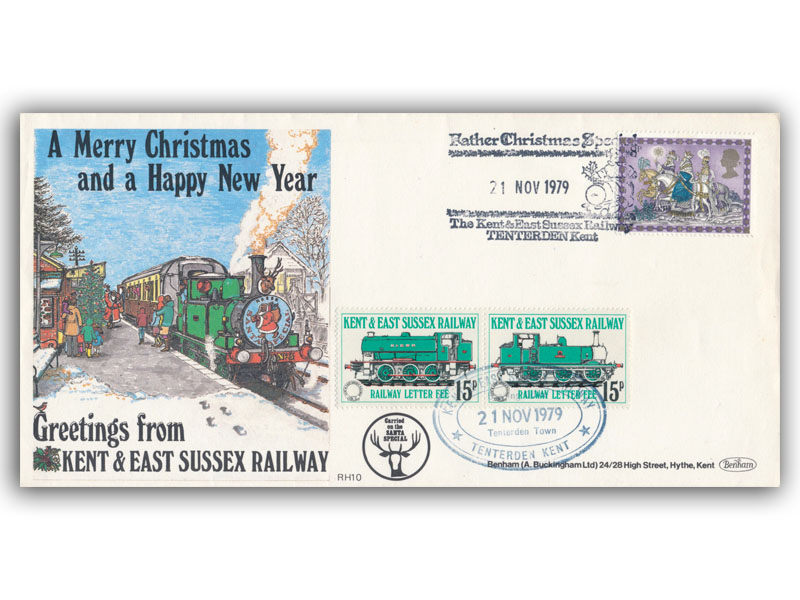 1979 RHDR Christmas single stamp carried cover