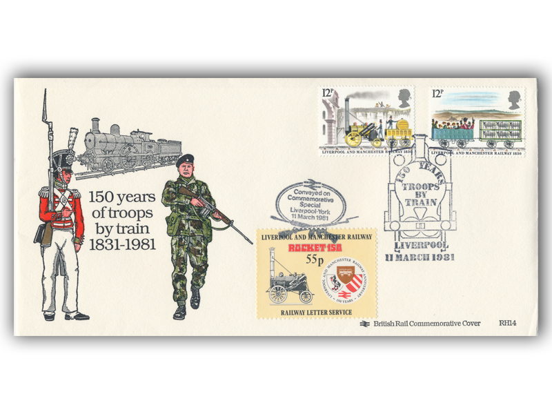 1981 RHDR Troops by Train 150th anniversary carried cover