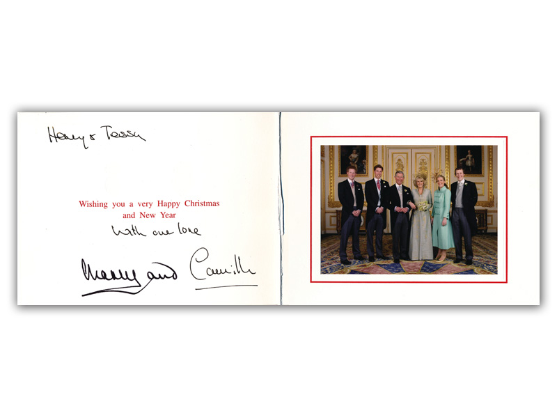 Charles and Camilla Signed Christmas Card