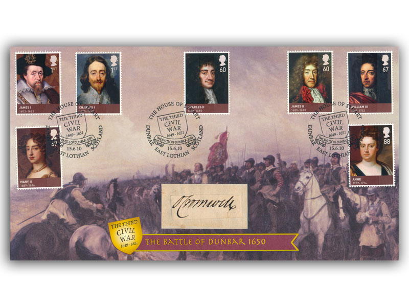 House of Stuart Cover signed Oliver Cromwell First Day Covers