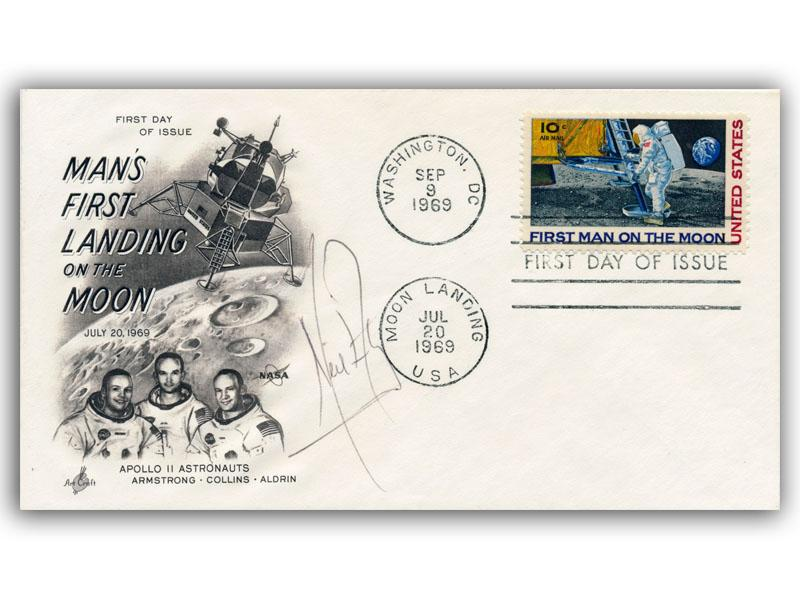 Neil Armstrong Signed Apollo 11 Cover First Day Covers