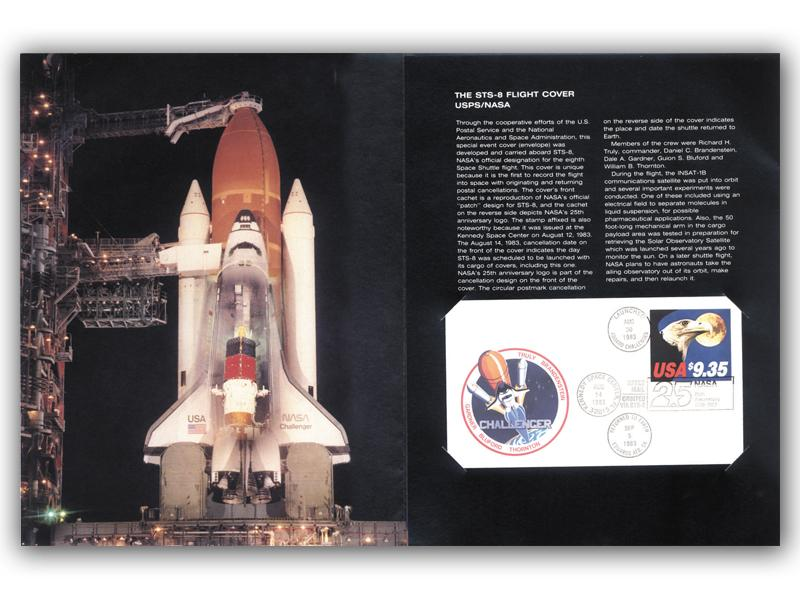STS- 8 Mission Carried Cover  First Day Covers