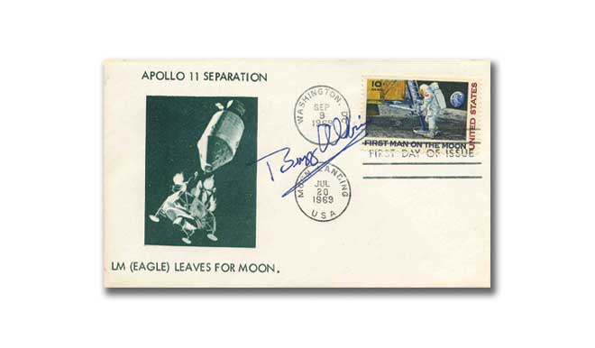 Buzz Aldrin signed Apollo 11 Separation Cover First Day Covers
