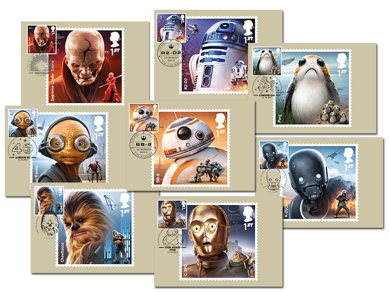 Star Wars Set of 8 PHQ Cards