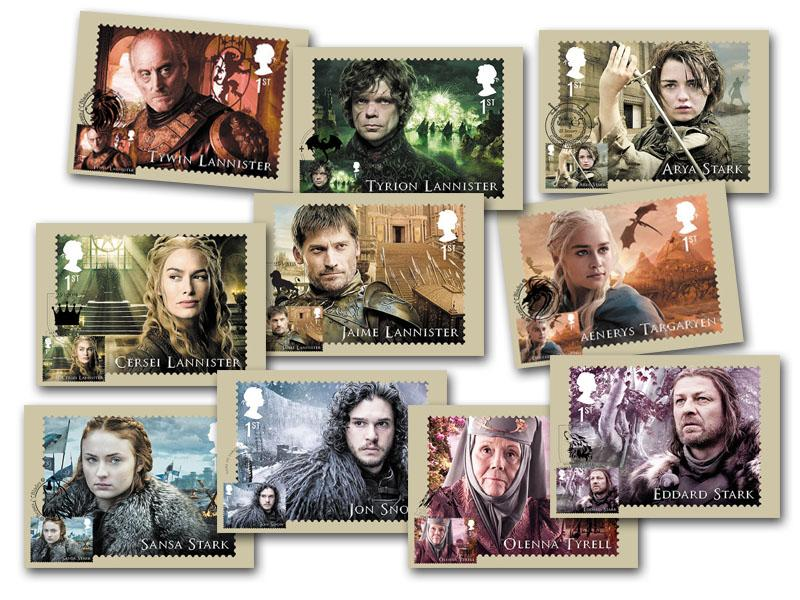 Game of Thrones - Set of 10 PHQ Cards
