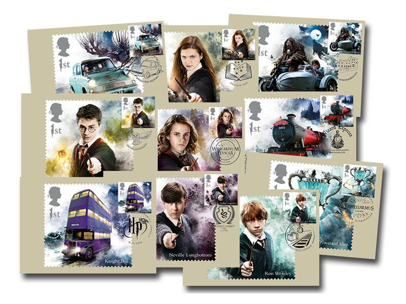Harry Potter Set of 10 PHQ Stamp Cards
