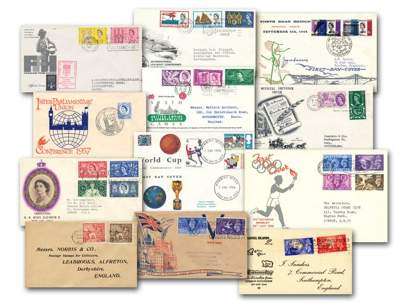The Pre-Decimal Dozen First Day Covers