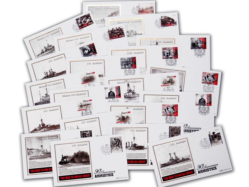 World War I Warships - Collection of 116 Covers
