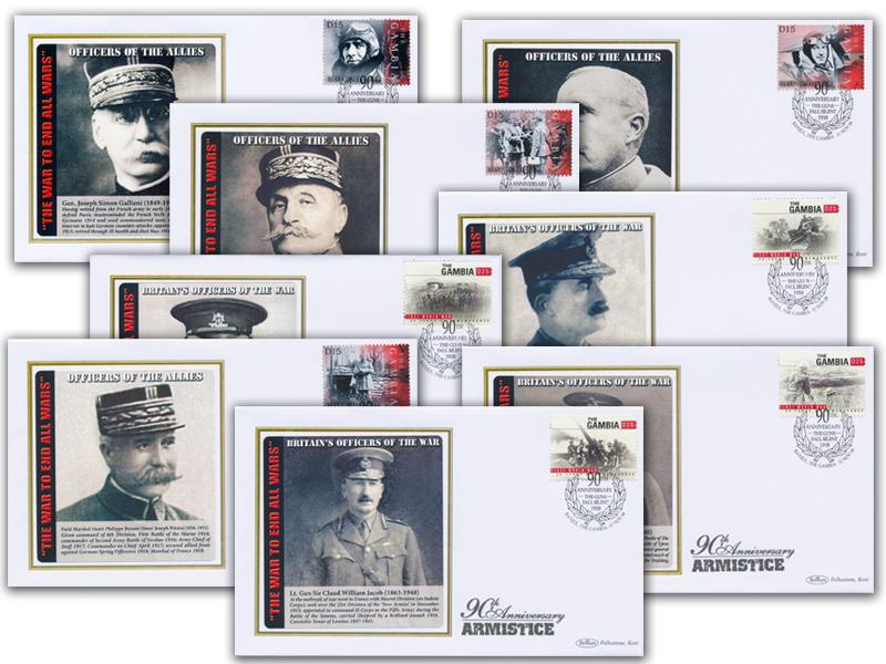 Officers - Set of 8 Covers