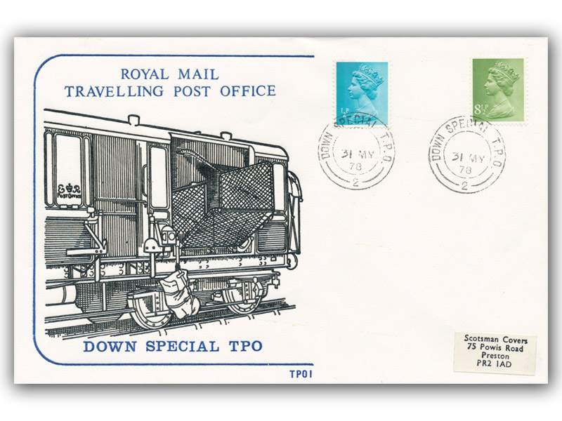 31st May 1978 Travelling Post Office Down Special Side 2