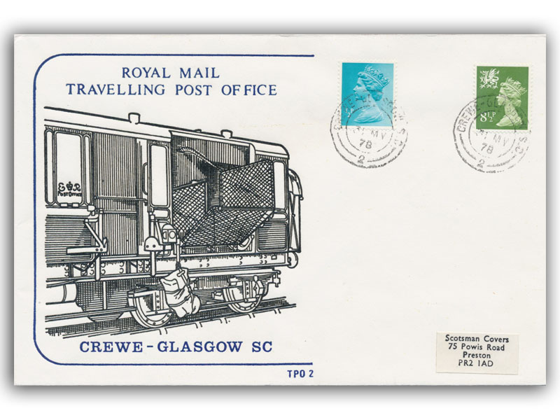 31st May 1978 Travelling Post Office Crewe to Glasgow sc side 2