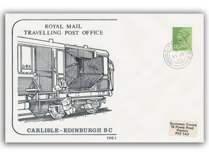 11th July 1980 Travelling Post Office Carlisle to Edinburgh sc