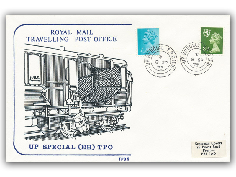 8th September 1977 Travelling Post Office Up Special (EH) Edinburgh Section