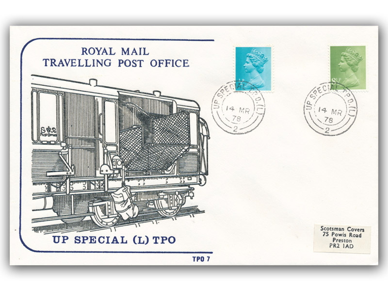 14th March 1978 Travelling Post Office Up Special (L) Carlisle Section Side 2