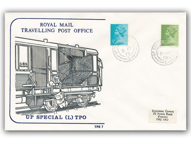5th April 1978 Travelling Post Office Up Special TPO (L) Side 1
