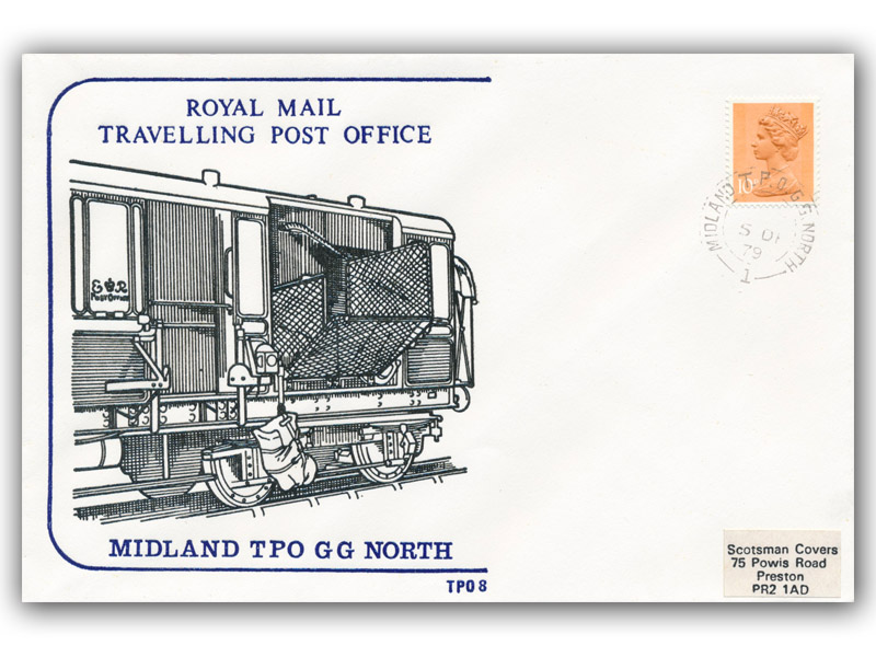 5th December 1979 Travelling Post Office Midland GG North