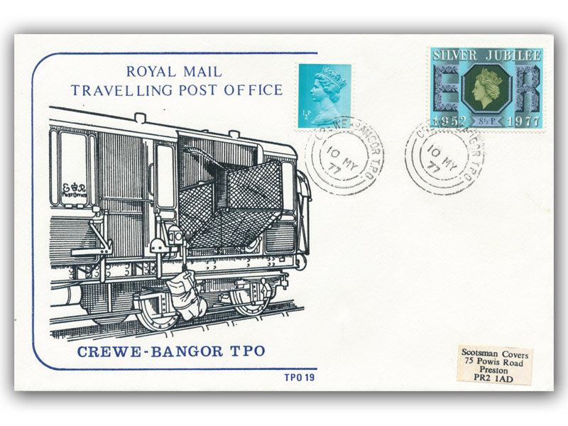 10th May 1977 Travelling Post Office Crewe to Bangor