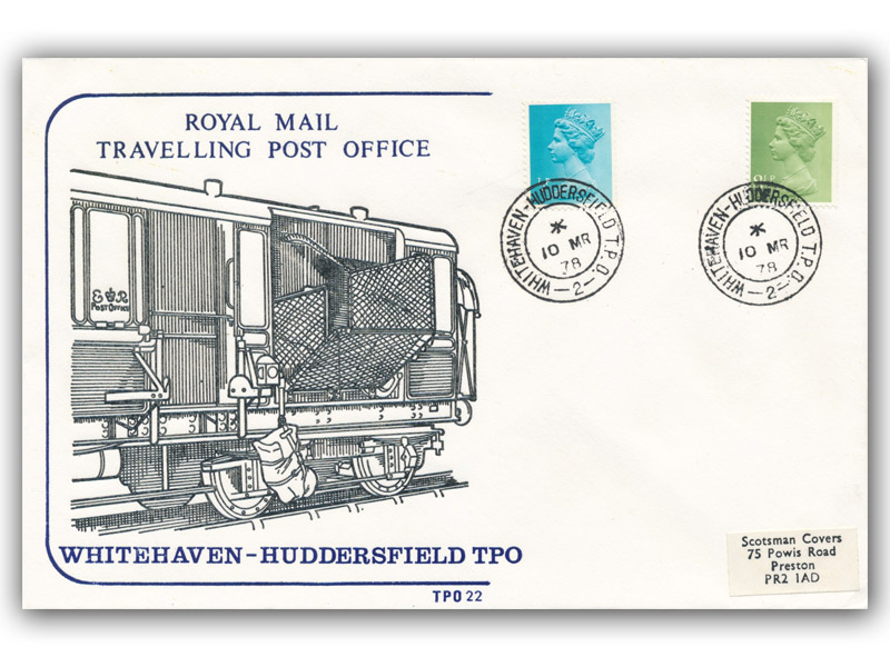 10th March 1978 Travelling Post Office Whitehaven to Huddersfield Side 2