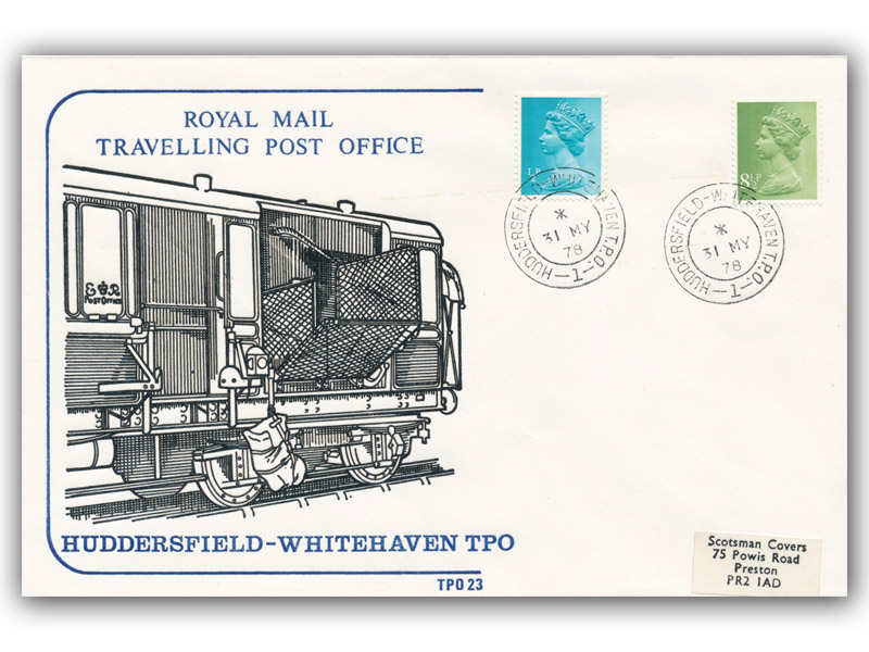 31st May 1978 Travelling Post Office Huddersfield to Whitehaven Side 1
