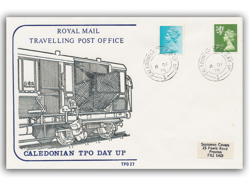 6th October 1978 Travelling Post Office Caledonian Day Up Side 1