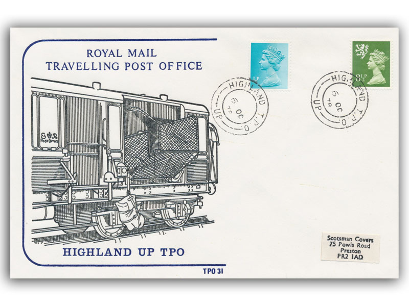 6th October 1978 Travelling Post Office Highlands Up