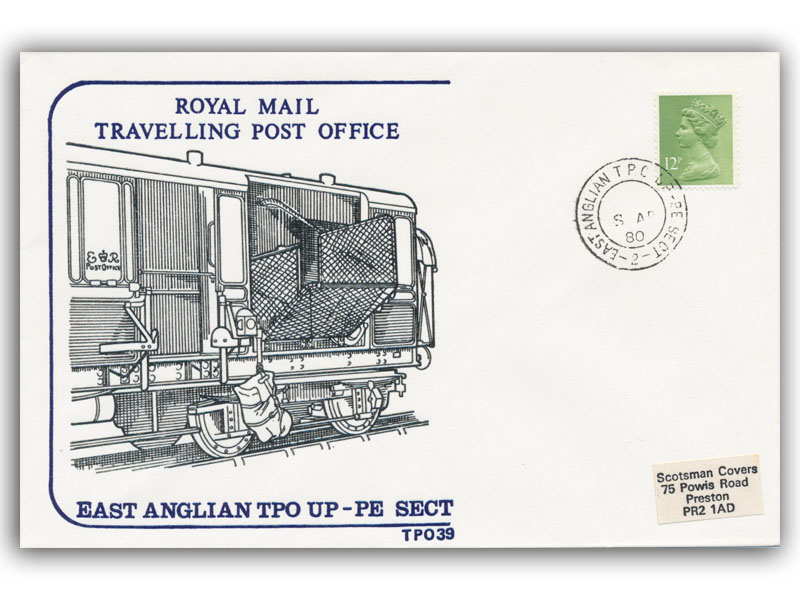 8th April 1980 Travelling Post Office East Anglian Up Peterborough Section Side 2