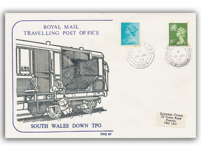 14th June 1978 Travelling Post Office South Wales Down