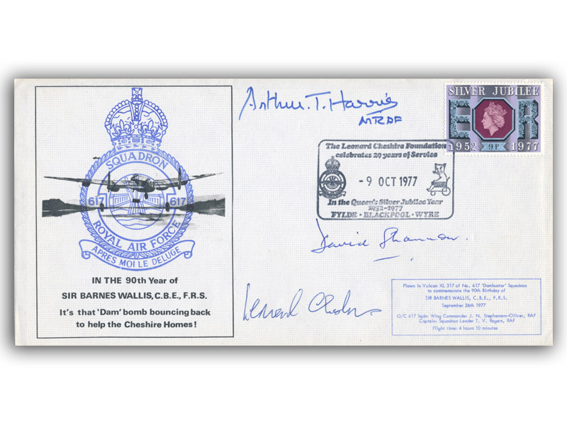 In the 90th Year of Sir Barnes Wallis C.B.E., F.R.S. signed Cheshire VC