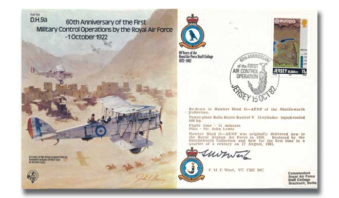 60th Anniversary of the First Military Control Operations signed West VC