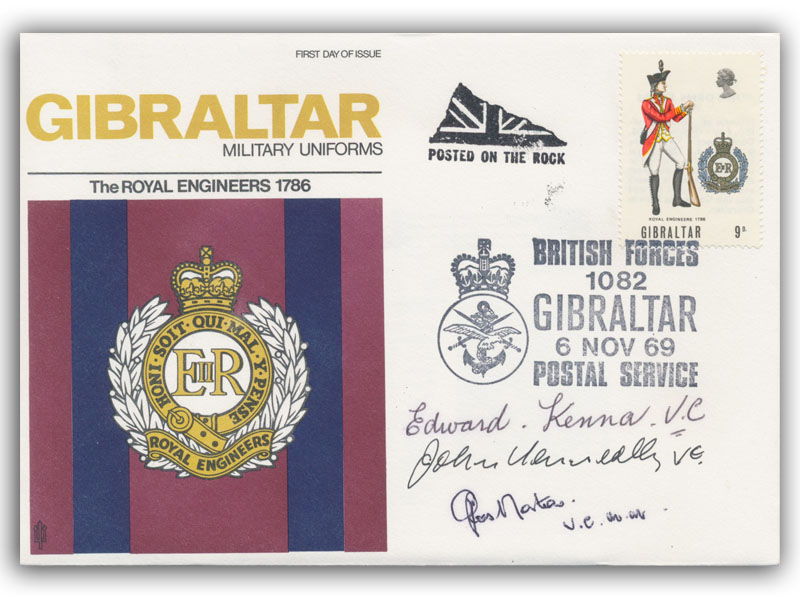 Gibraltar Military Uniforms Signed 3 Vcs