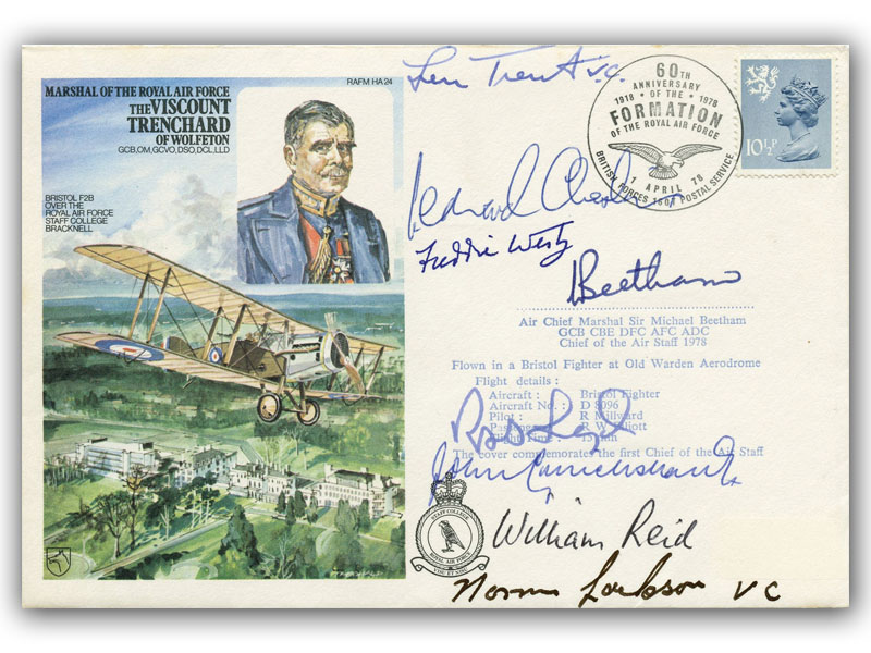Marshal of RAF The Viscount Trenchard of Wolfeton signed 7 VCs plus 1 other