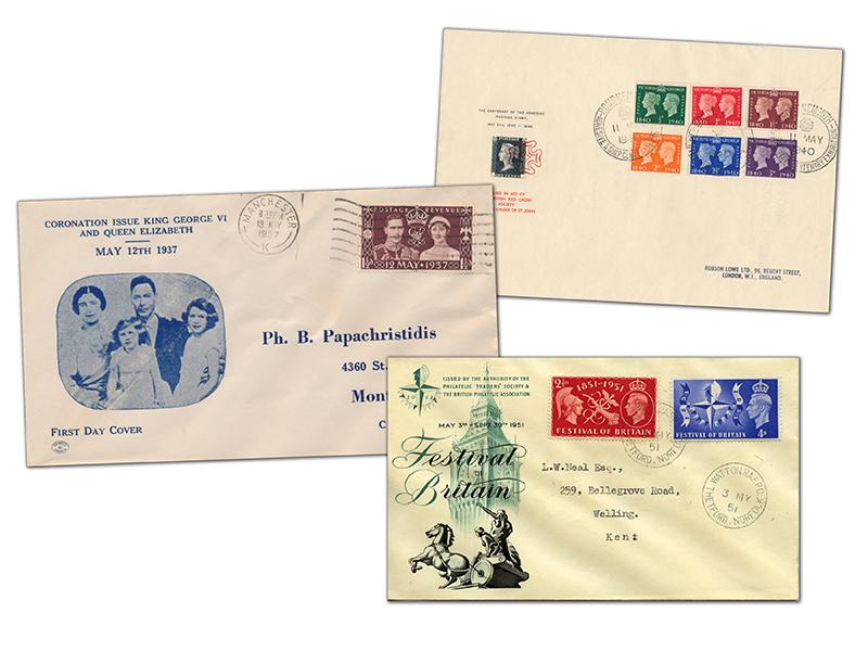 King George VI Set of 8 Commemorative Covers